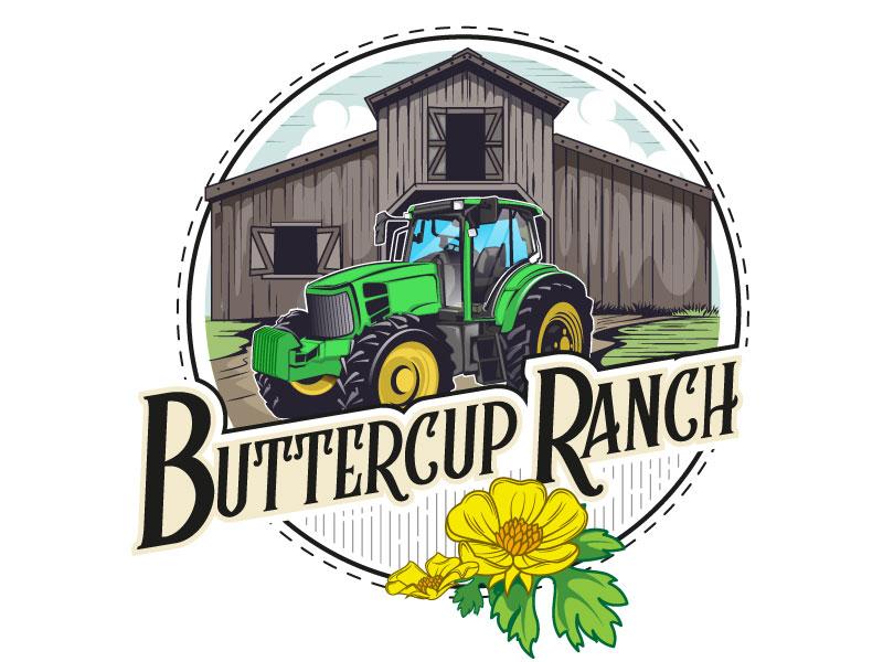 Buttercup Ranch logo design by usashi