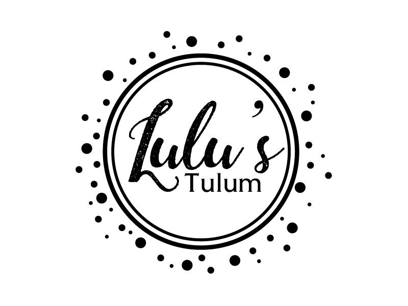 Lulu's Tulum logo design by ElonStark
