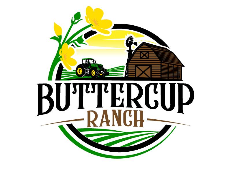 Buttercup Ranch logo design by jaize