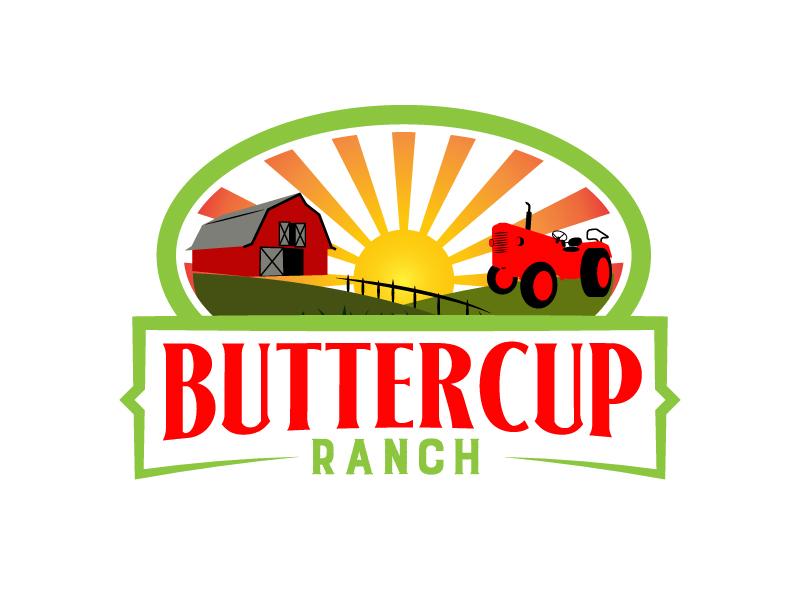 Buttercup Ranch logo design by karjen