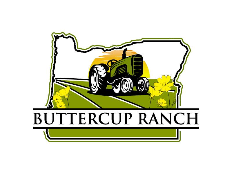 Buttercup Ranch logo design by torresace