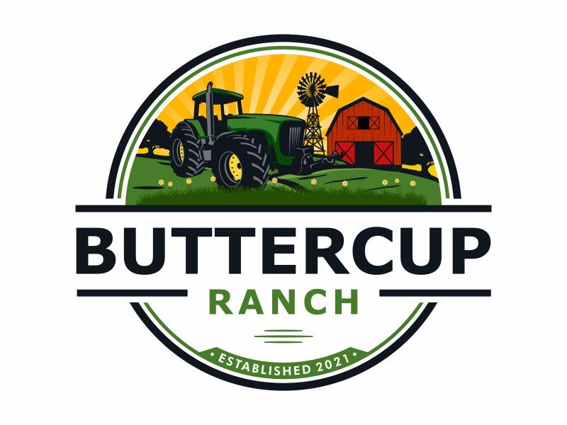 Buttercup Ranch logo design by Mardhi
