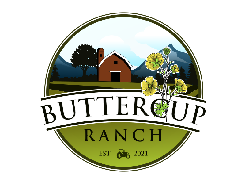 Buttercup Ranch logo design by gomadesign