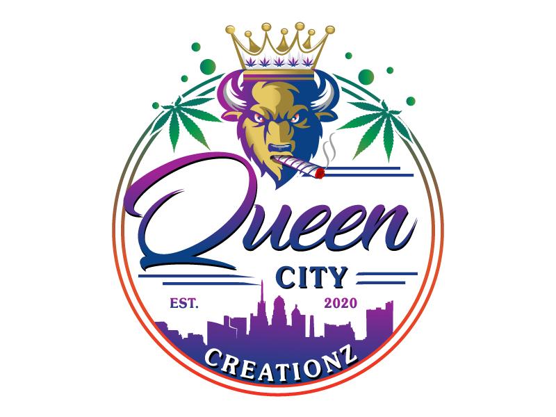 Queen City Creationz logo design by LucidSketch