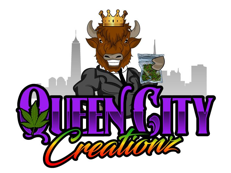 Queen City Creationz logo design by ElonStark