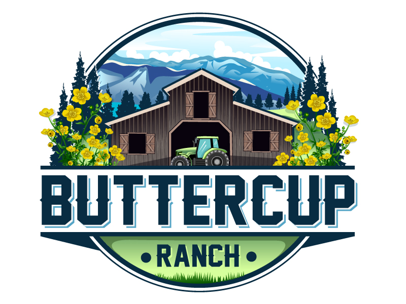 Buttercup Ranch logo design by LucidSketch