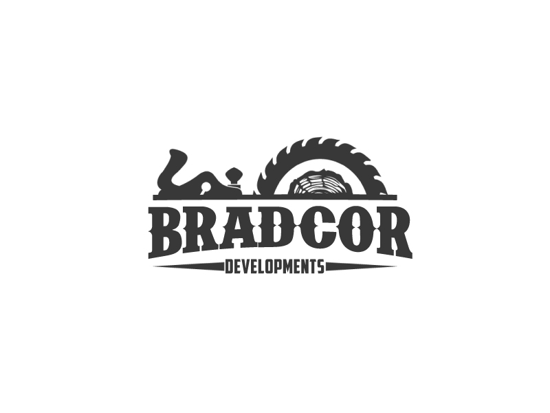 Bradcor Developments logo design by ElonStark