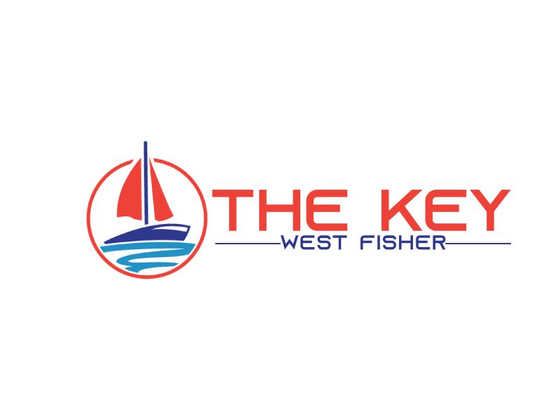 The Key West Fisher logo design by ElonStark