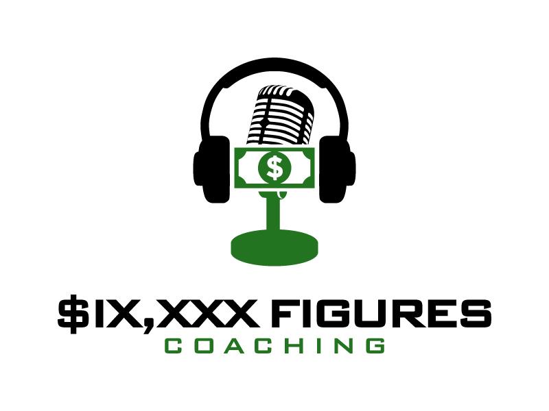 SIX,XXX FIGURES COACHING logo design by desynergy