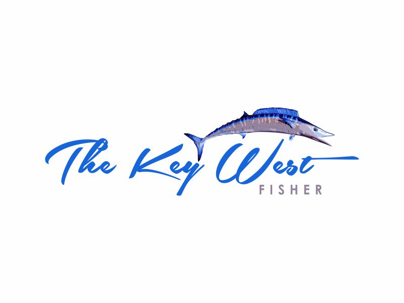 The Key West Fisher logo design by giphone