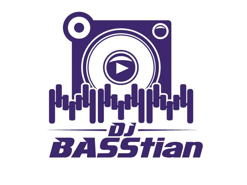 DJ BASStian logo design by ElonStark
