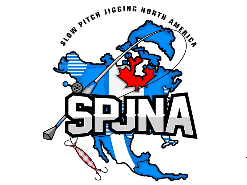 SLOW PITCH JIGGING NORTH AMERICA OR SPJNA logo design by LucidSketch