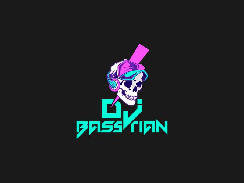 DJ BASStian logo design by Ayash Mahardika