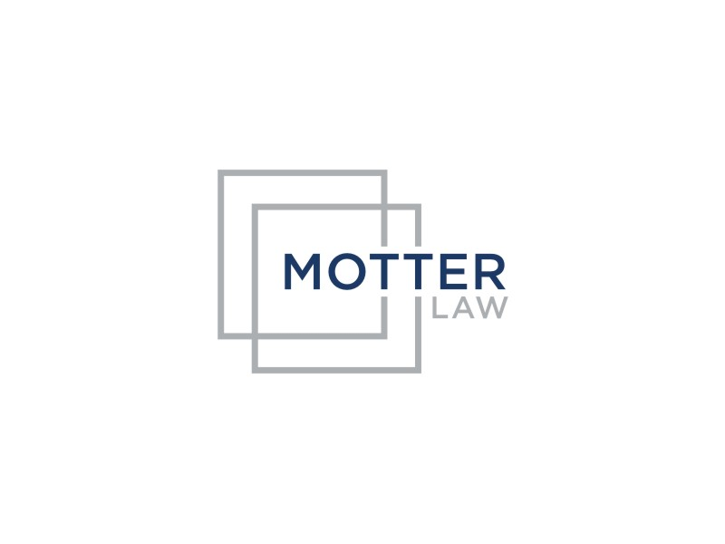 Motter Law logo design by bombers