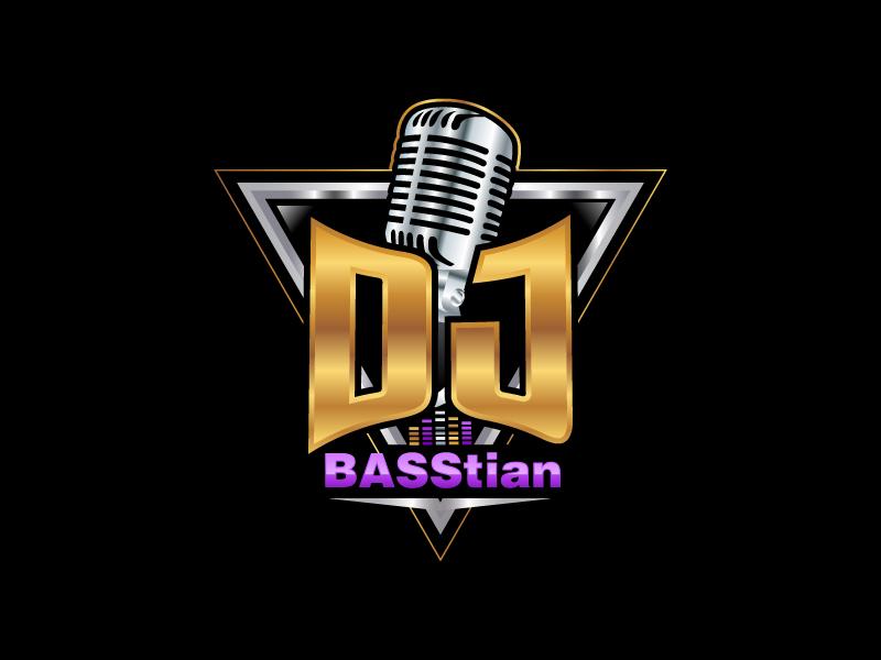 DJ BASStian logo design by uttam