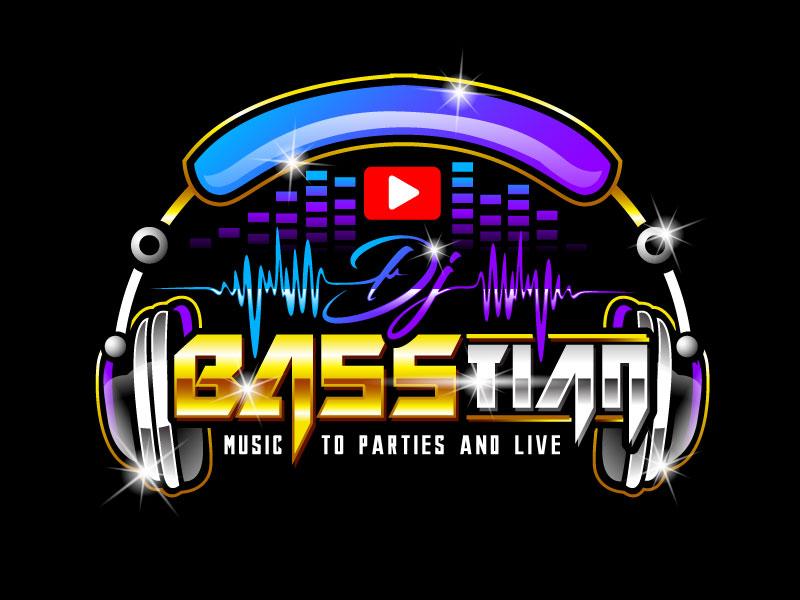DJ BASStian logo design by REDCROW