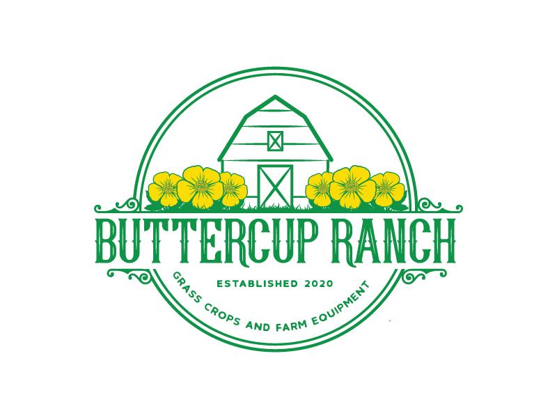 Buttercup Ranch logo design by emberdezign