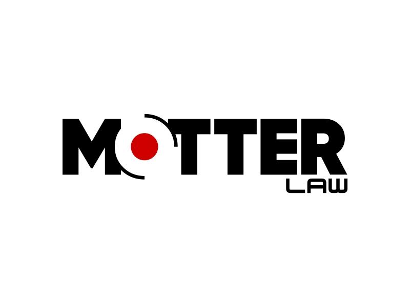 Motter Law logo design by ekitessar