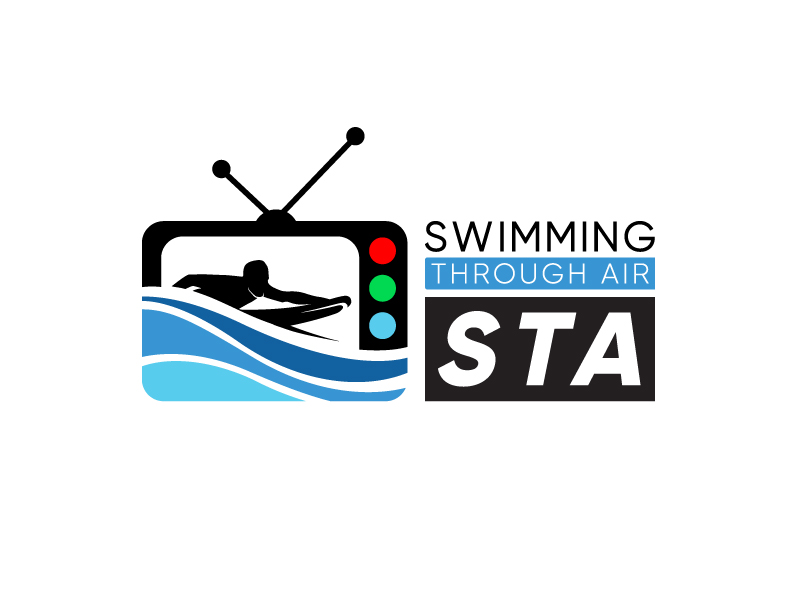 SWIMMING THROUGH AIR (STA) logo design by giggi