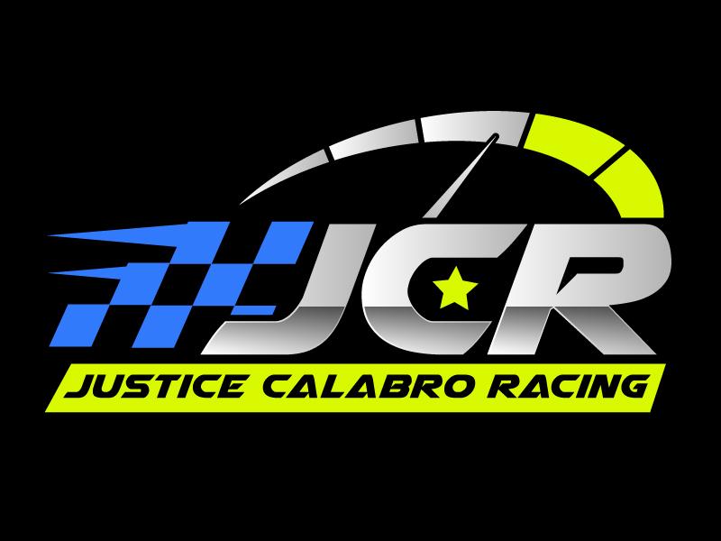 J C R Justice Calabro Racing logo design by ElonStark