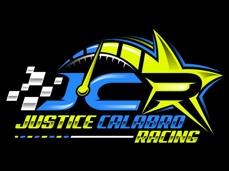 J C R Justice Calabro Racing logo design by Suvendu