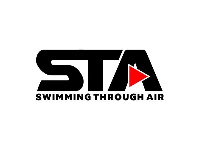 SWIMMING THROUGH AIR (STA) logo design by perf8symmetry