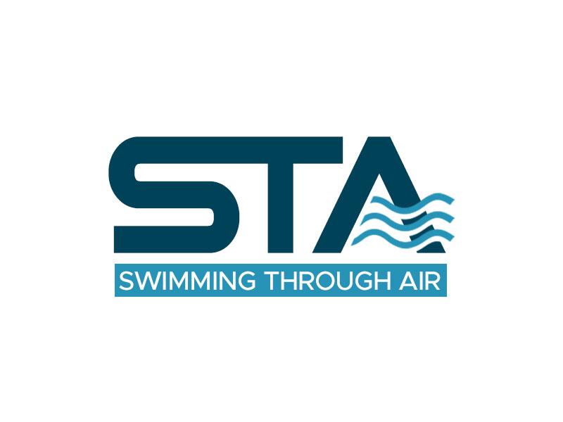 SWIMMING THROUGH AIR (STA) logo design by kunejo