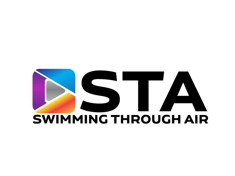 SWIMMING THROUGH AIR (STA) logo design by ElonStark