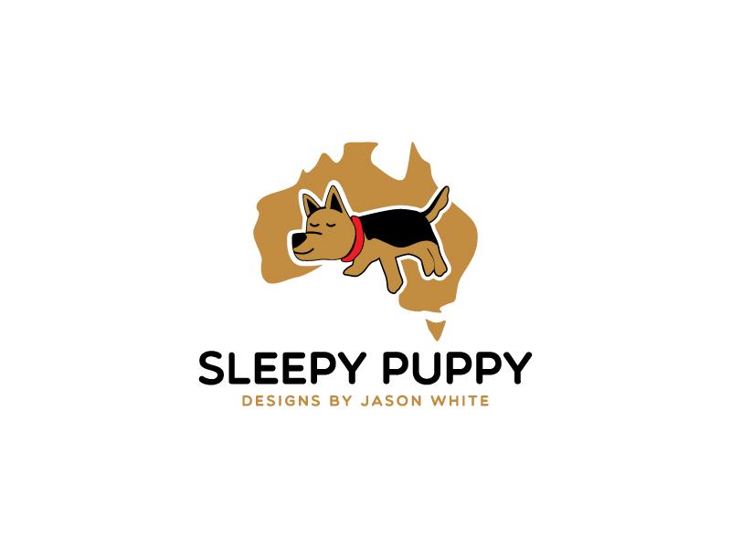 Sleepy Puppy Designs By Jason White logo design by MonkDesign