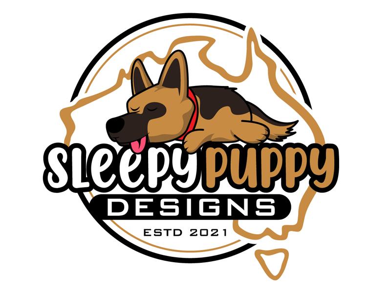 Sleepy Puppy Designs By Jason White logo design by DreamLogoDesign