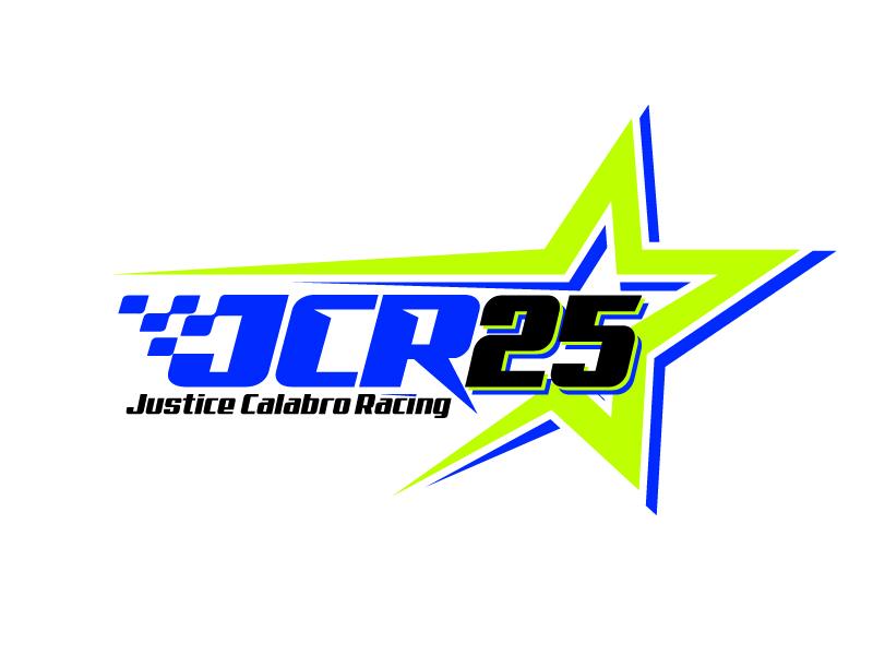 J C R Justice Calabro Racing logo design by jaize