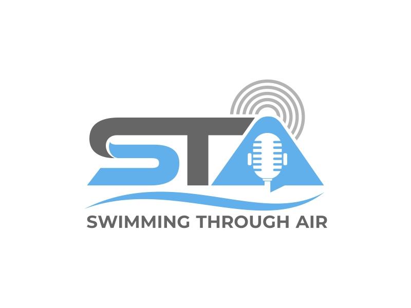 SWIMMING THROUGH AIR (STA) logo design by mutafailan