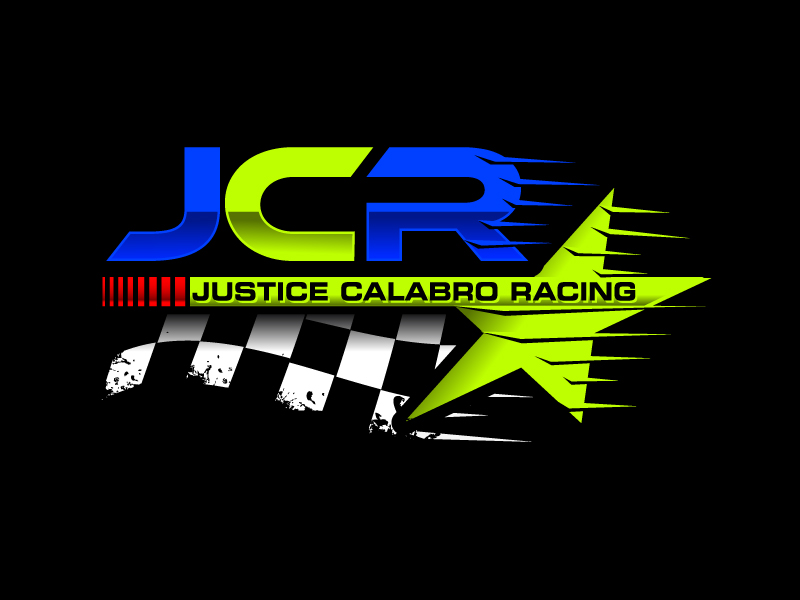 J C R Justice Calabro Racing logo design by LucidSketch