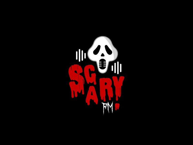 Scary FM logo design by Loregraphic