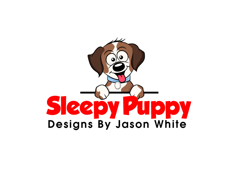 Sleepy Puppy Designs By Jason White logo design by ElonStark