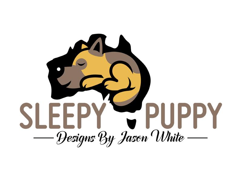 Sleepy Puppy Designs By Jason White logo design by MAXR
