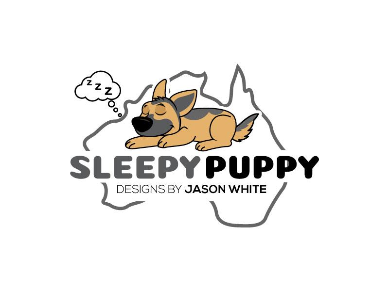 Sleepy Puppy Designs By Jason White logo design by invento
