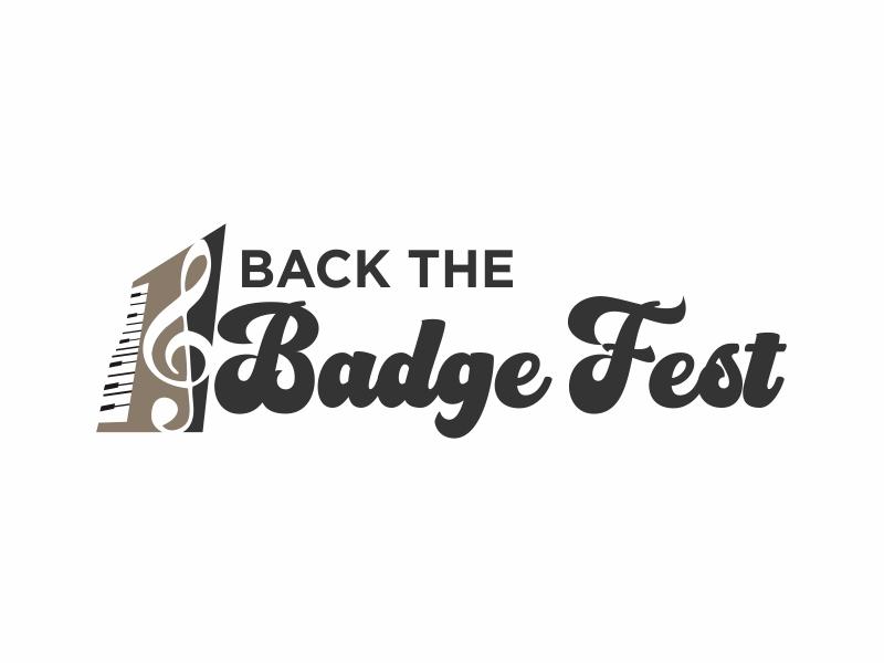 Back the Badge Fest logo design by Greenlight