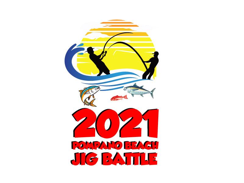 2021 POMPANO BEACH JIG BATTLE logo design by bayudesain88