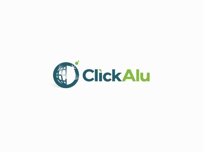 Click Alu logo design by sigorip