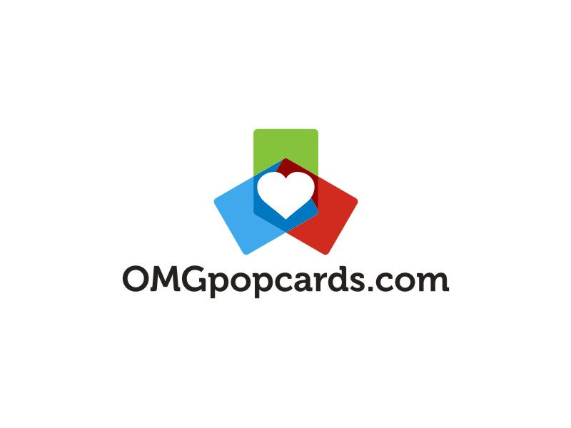 OMGpopcards.com logo design by RatuCempaka