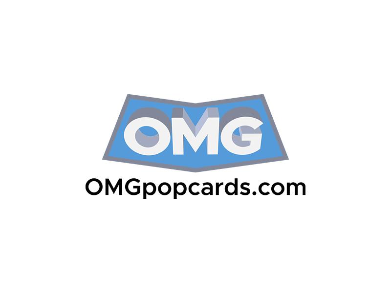 OMGpopcards.com logo design by planoLOGO