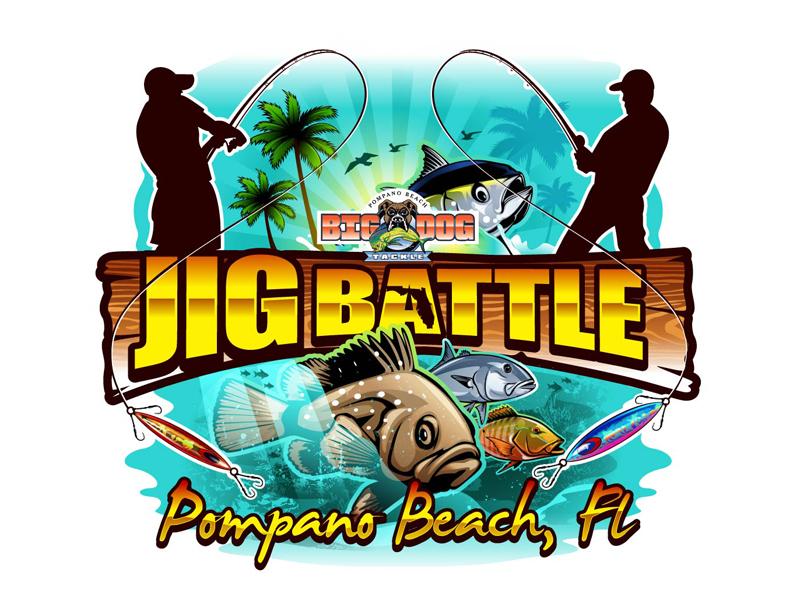 2021 POMPANO BEACH JIG BATTLE logo design by DreamLogoDesign