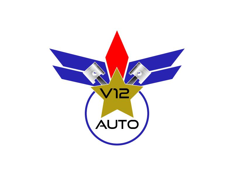 V12 auto logo design by chumberarto