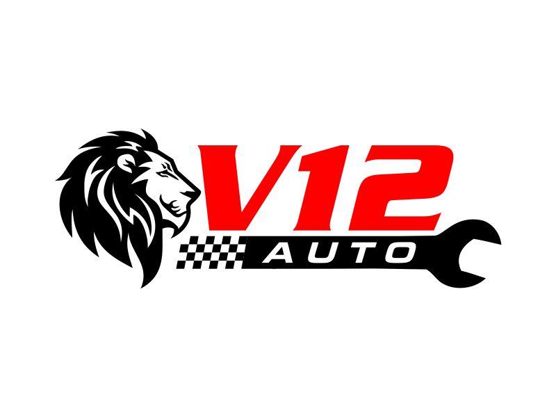 V12 auto logo design by ingepro