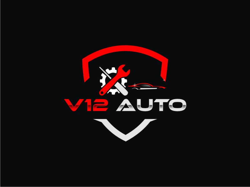 V12 auto logo design by KQ5