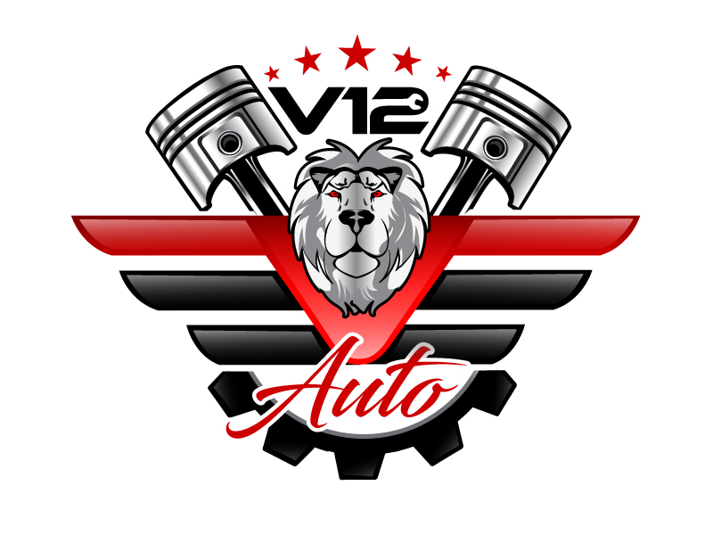 V12 auto logo design by LucidSketch