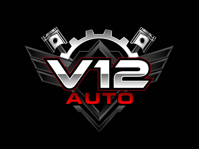 V12 auto logo design by axel182