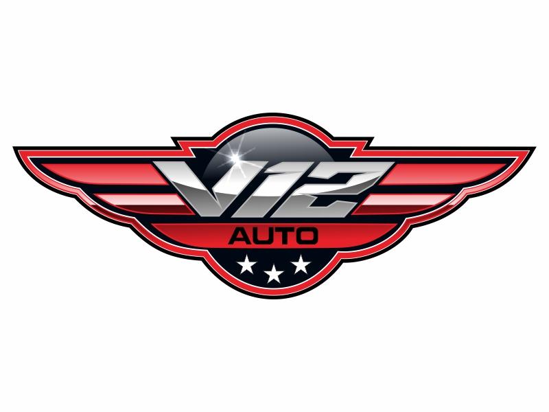 V12 auto logo design by bosbejo