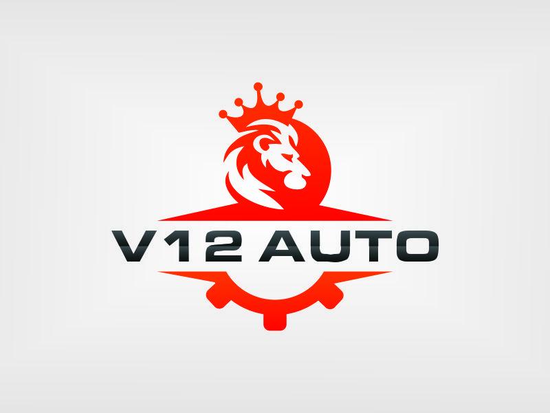 V12 auto logo design by azizah
